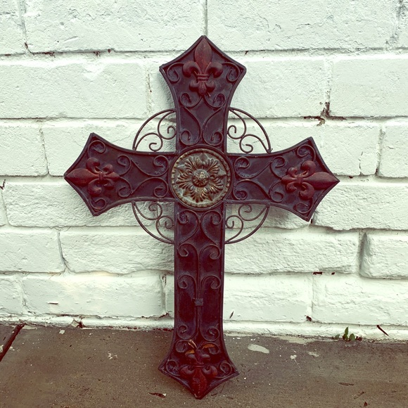 Vintage Other - Outdoor Vintage Metal Cross Wall Art